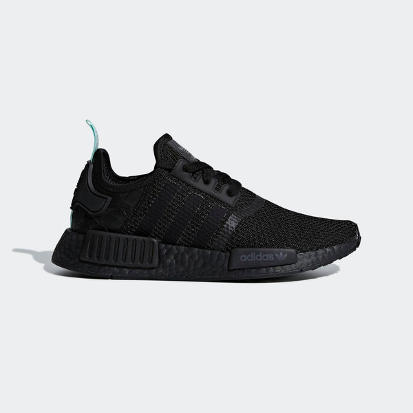 Womens Adidas Nmd R1 Shoe In Black Clear Mint - Simons Sportswear 0cff96e772