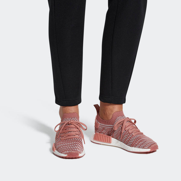 cheaper 40633 73bef Womens Adidas Nmd R1 Stlt Primeknit Shoes In Ash Pink