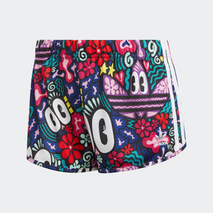 Womens Adidas Originals 3-Stripes  Shorts In Multicolor