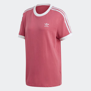 Womens Adidas Originals 3-Stripes Tee Shirt In Trace Maroon