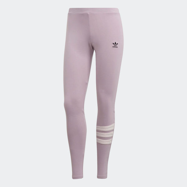a1dd068e090e0 Womens Adidas Originals 90s Mid Rise Tights Leggings In Soft Vision Pink  Black