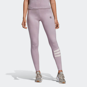 Womens Adidas Originals 90s Mid Rise Tights Leggings In Soft Vision Pink Black - Simons Sportswear