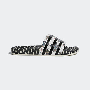 Womens Adidas Originals Adilette Slides Flip Flops Sandals In Black Tropical - Simons Sportswear