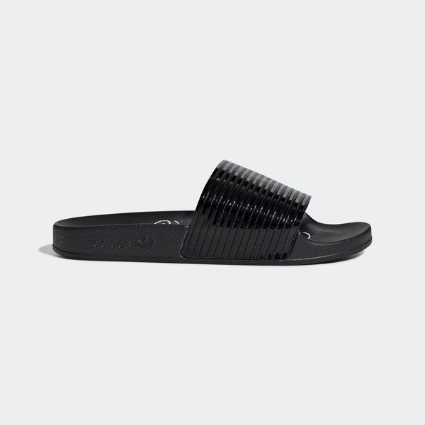 b9d1d2d2a Womens Adidas Originals Adilette Slides Flip Flops Sandals In Core Black