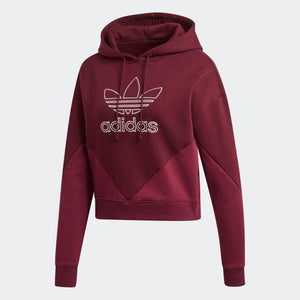 Womens Adidas Originals Clrdo Hoodie Sweatshirt In Maroon
