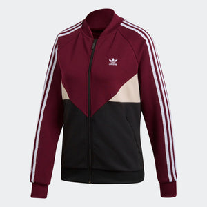 Womens Adidas Originals Clrdo Sst Track Jacket In Maroon