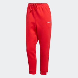 Womens Adidas Originals Coeeze Fleece Sweatpants In Active Red