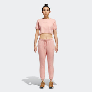 Womens Adidas Originals Coeeze Fleece Sweatpants In Trace Pink Mel - Simons Sportswear