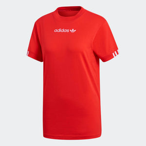 Womens Adidas Originals Coeeze Tee Shirt In Power Red