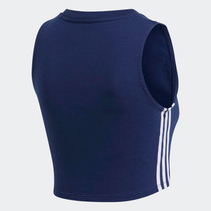 Womens Adidas Originals Crop Top Shirt In Dark Blue Navy