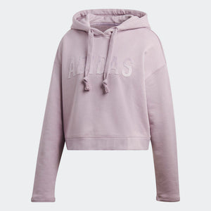 Womens Adidas Originals Cropped Hoodie Hoodie In Soft Vision Lavender