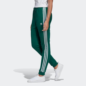 Womens Adidas Originals Cuffed Jogger Track Pants In Collegiate Green - Simons Sportswear