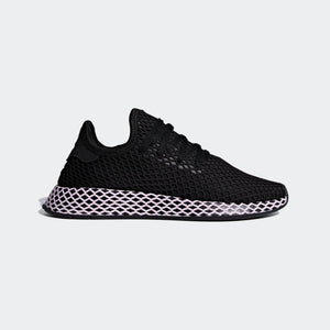 Womens Adidas Originals Deerupt Runner Shoes In Black Clear Lilac