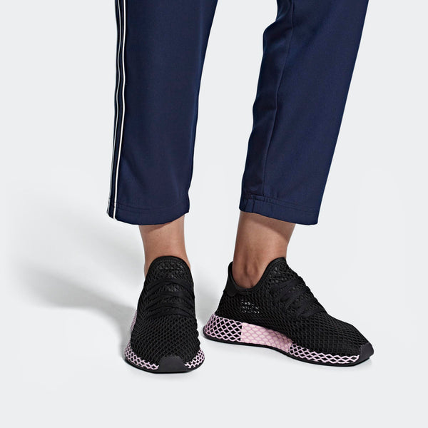 pretty nice 5a1c0 34273 Womens Adidas Originals Deerupt Runner Shoes In Black Clear Lilac - Simons  Sportswear