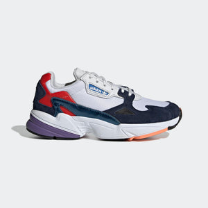 Womens Adidas Originals Falcon Kylie Shoe In Crystal White Collegiate Navy