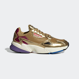 Womens Adidas Originals Falcon Kylie Shoe In Gold Metallic Off White
