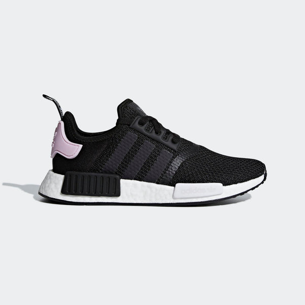 5ff975e437964 Womens Adidas Originals Nmd R1 Shoes In Black Clear Pink - Simons ...