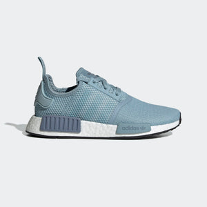 Womens Adidas Originals Nmd R1 Runner Shoe In Ash Grey Raw Steel - Simons Sportswear