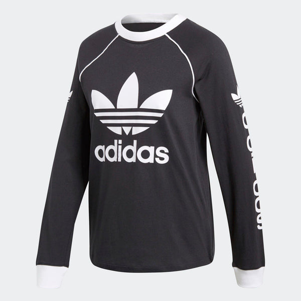 ed67cc00 Womens Adidas Originals Og Long Sleeve Tee Shirt In Black - Simons ...