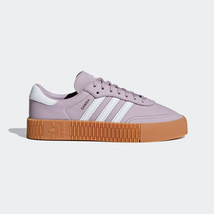 Womens Adidas Originals Sambarose Shoe In Soft Vision Purple Gum