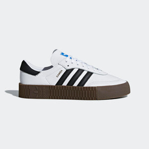 Womens Adidas Originals Sambarose Shoe In White Black Gum