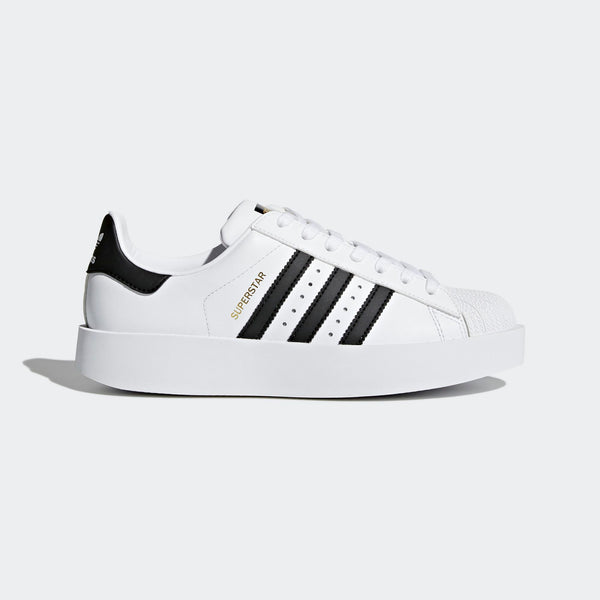 online store 0443d 6e380 Womens Adidas Originals Superstar Bold Platform Shoe In White Black
