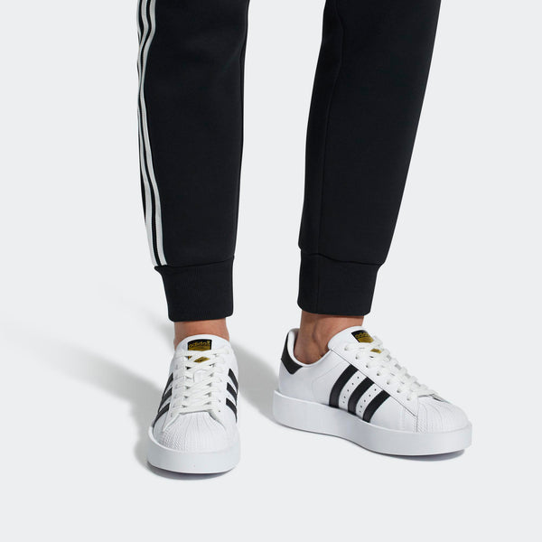 9f188d1018a6 Womens Adidas Originals Superstar Bold Platform Shoe In White Black -  Simons Sportswear