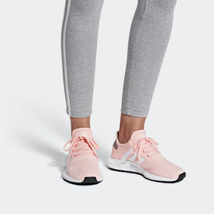 Womens Adidas Originals Swift Run Shoes In Icey Pink