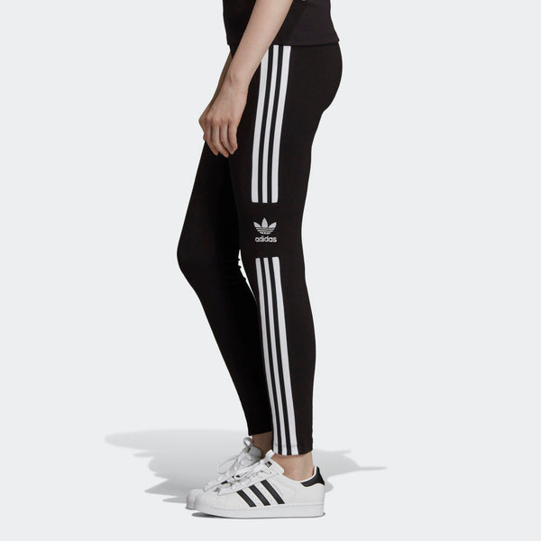 df4746d9595 Womens Adidas Originals Trefoil Tights Leggings In Black White ...