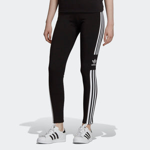 Womens Adidas Originals Trefoil Tights Leggings In Black White - Simons Sportswear