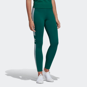 Womens Adidas Originals Trefoil Tights Leggings In Collegiate Green - Simons Sportswear