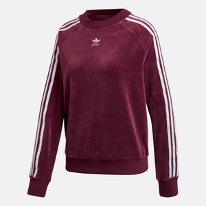 Womens Adidas Originals Trefoil Sweatshirt In Maroon