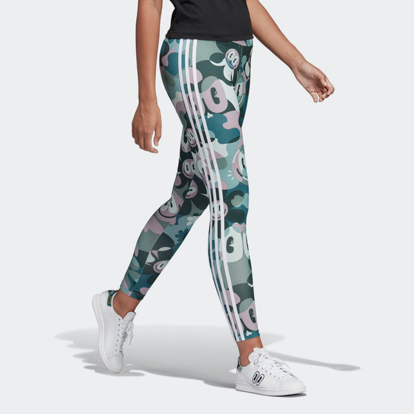 3695a43e5ecdc Womens Adidas Originals X Hattie Stewart 3-Stripes Toon Camo Tights Leggings  In Multi Camo