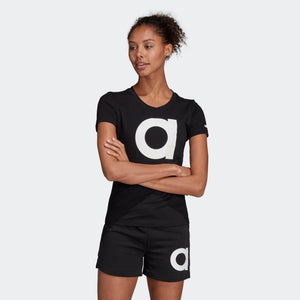 Womens Adidas Training Essentials Shorts In Black White - Simons Sportswear