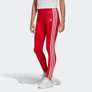 Womens Adidas Originals Adicolor 3 Stripes Tights (Lush Red) - Simons Sportswear