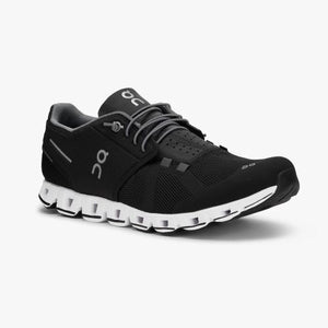 "Womens OnRunning ""Cloud"" Running Shoe (Blk/White) - Simons Sportswear"