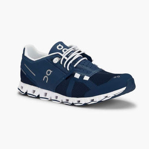 "Womens OnRunning ""Cloud"" Running Shoe (Denim/White) - Simons Sportswear"