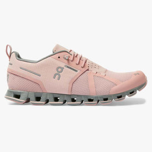 "Women's OnRunning ""Cloud Waterproof"" Running Shoe (Rose/Lunar) - Simons Sportswear"