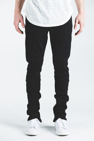 Mens Crysp Denim Pacific Jeans In Black