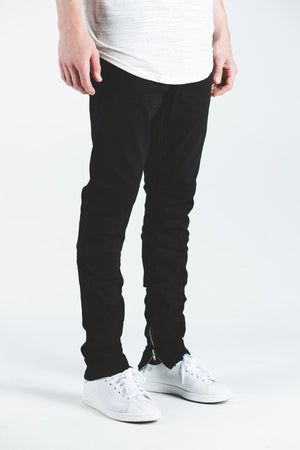 Mens Crysp Denim Pacific Jeans In Black - Simons Sportswear