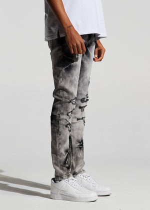 Mens Crysp Denim Pacific Denim Jeans In Grey Bleach - Simons Sportswear