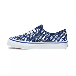 Preschool Kids Vans Authentic Logo Repeat Skate Shoe In True Blue - Simons Sportswear
