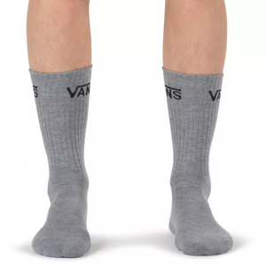 Men's Vans 3 Pack Classic Crew Socks Heather Grey