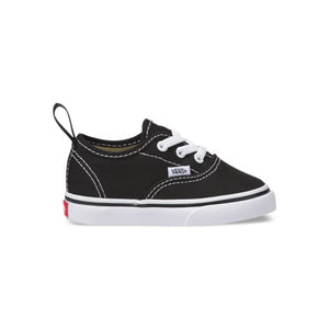 Toddler Kids Vans Authentic Elastic Lace Skate Shoe In Black - Simons Sportswear