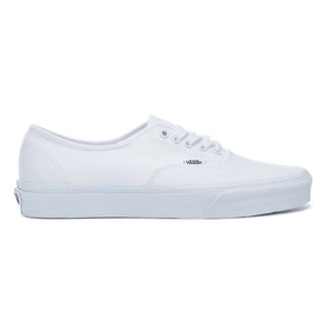 Mens Vans Authentic Skate Shoe In True White - Simons Sportswear