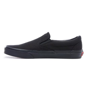 Mens Vans Classic Slip-On Skate Shoe In All Black - Simons Sportswear