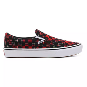 Van's - Plaid Check Comfycush Slip-On Shoes - Simons Sportswear