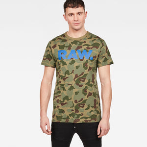 Mens G-Star Inc Graphic 52 Tee Shirt In Sage Battle Green