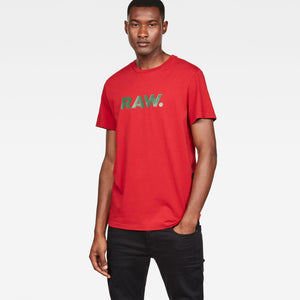 Mens G-Star Inc Graphic 78 Tee Shirt In Deep Flame