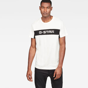 Mens G-Star Inc Graphic 80 Tee Shirt In Milk Dark Black - Simons Sportswear